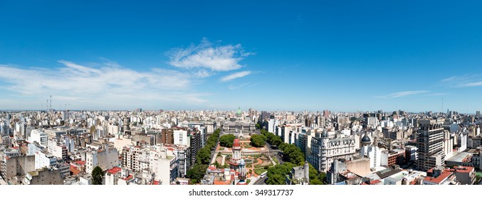 Panorama of the neighborhood from the Congress of the Nation Argentina, Buenos Aires