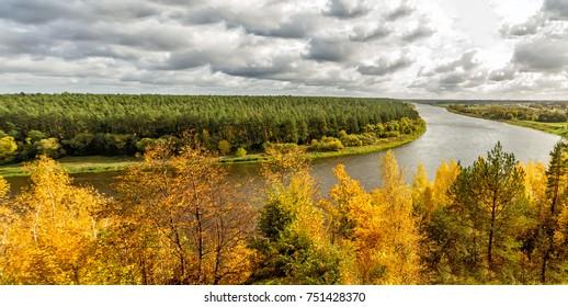 Panorama of the Nemunas River