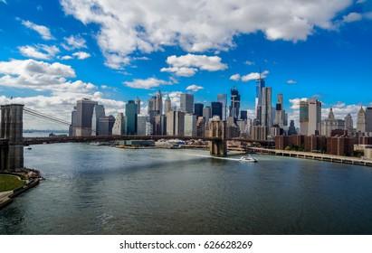 Panorama New York city USA river 21.09.2016