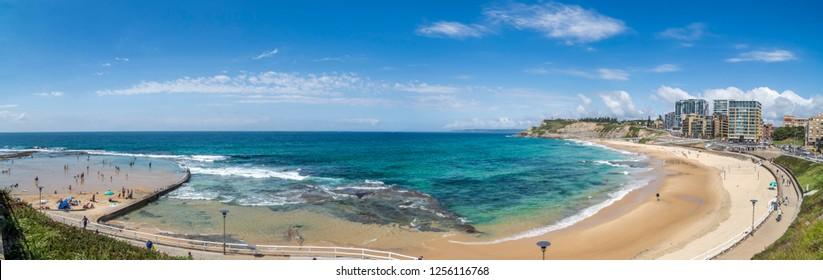 Panorama Newcastle Beach