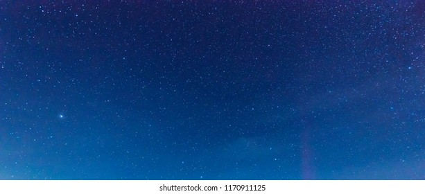 panorama night blue sky and star background.with grain and select white balance.
