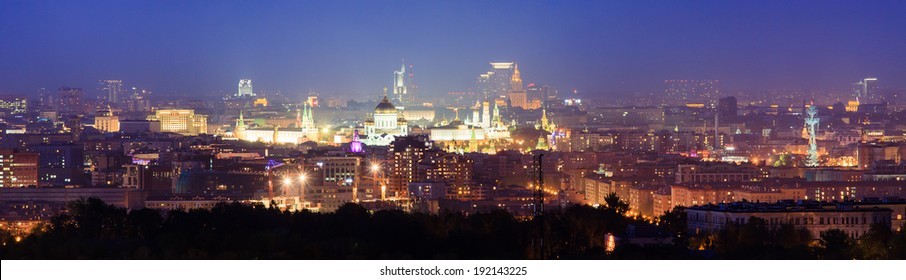 Panorama of night Moscow