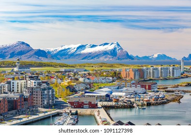 Panorama of Norwegian City Bodo - Norway.