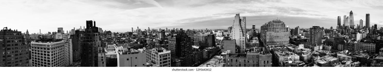 Panorama of NYC, USA