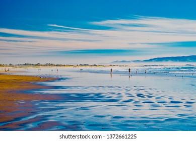 panorama of the ocean beach in California