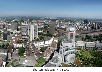 Panorama ofthe city center of Essen in Germany. Essen is together with the Ruhr area European Capital of Culture 2010.