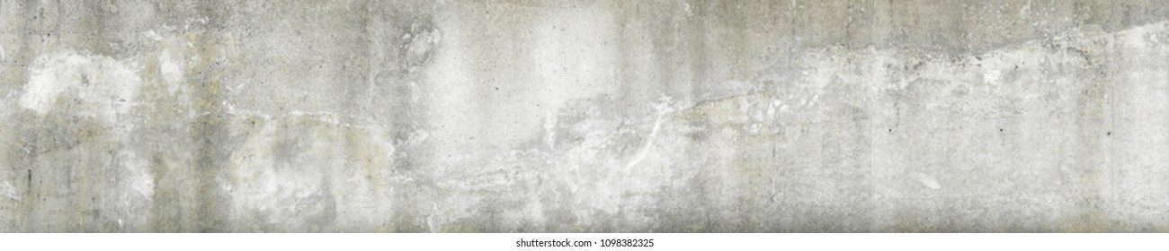 Panorama of old dirty concrete wall for background