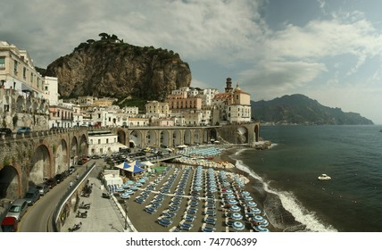 Panorama of an old fisherman village, on the Mediterranean Coast, Italy