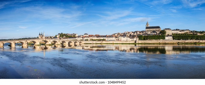 Panorama of the old town of Blois, Loire Valley, France