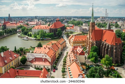 panorama of old town cityscape, Wroclaw, Poland