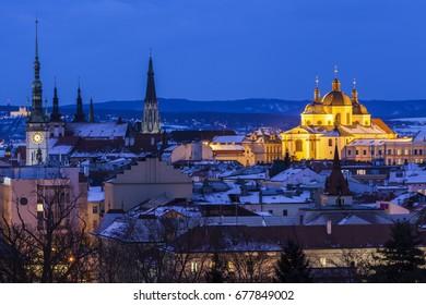 Panorama of Olomouc. Olomouc, Olomouc Region, Czech Republic.