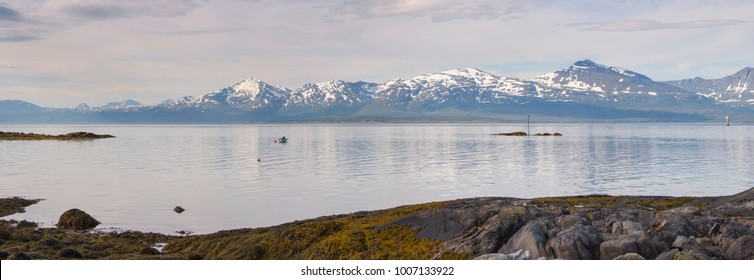 panorama on the beaches of Tromso in Lofoten in Norway