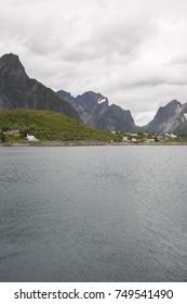 panorama on the coast of Reine at Lofoten island in Norway