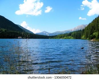 PANORAMA ON THE LAKE OF ANTERSELVA ALTO ADIGE ITALIA