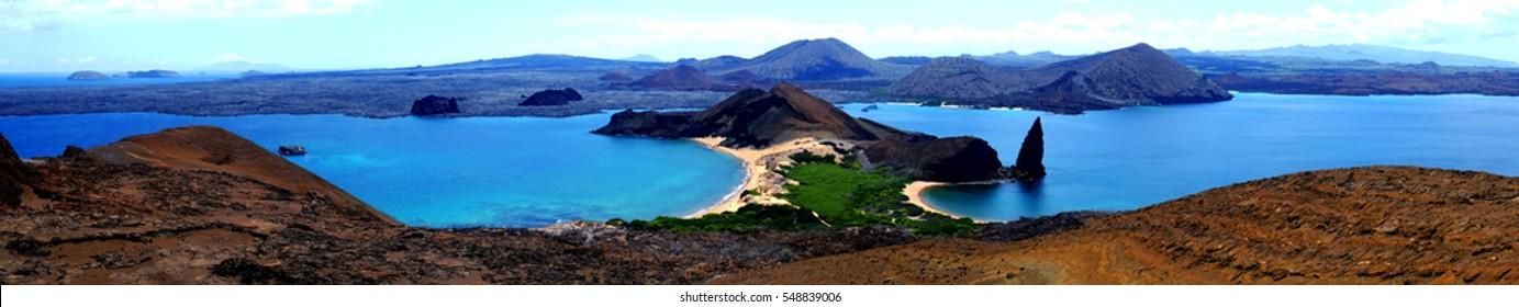Panorama on Rabida Island, Galapagos Islands, Ecuador