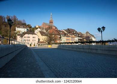 Panorama on the Rhine in Laufenburg, Germany