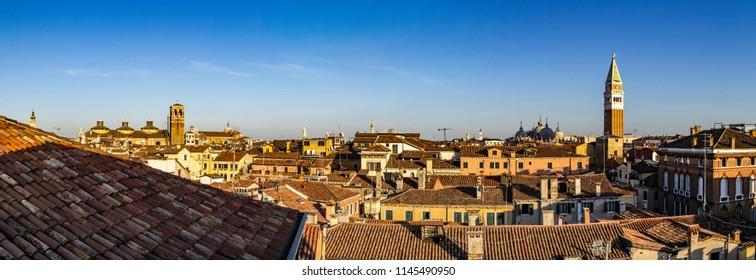 Panorama on the roofs of Venice, Veneto - Italy