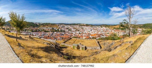 Panorama on the town of Aracena. Province of Huelva. Spain