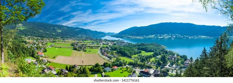 Panorama Ossiacher Lake, Carinthia, Austria