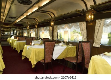 The Panorama Outside Of The Restaurant Car