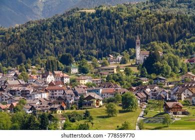 Panorama of Ovaro, Italy