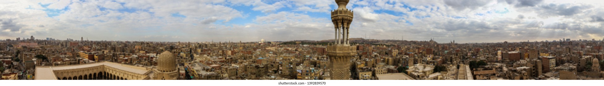 Panorama over old city of Cairo, Egypt