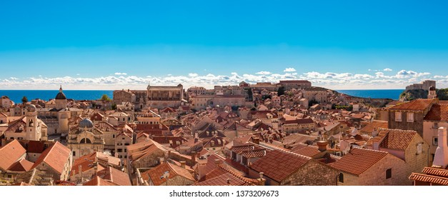 Panorama over the old town of Dubrovnik