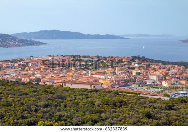 Panorama of Palau, Sardinia, Italy