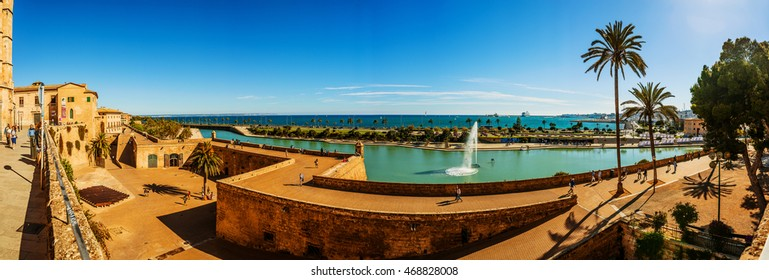 Panorama of Palma de Mallorca. Palma is capital and largest city of autonomous community of Balearic Islands in Spain. It is situated on south coast of Majorca on Bay of Palma.