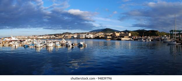 Panorama of Pantelleria harbor