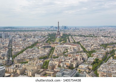 Panorama of Paris France with the Eiffel tower