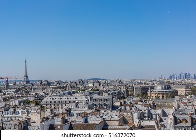 Panorama of Paris. View from Centre Georges Pompidou. France.