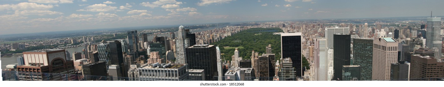 Panorama, the Park from Rockefeller Center