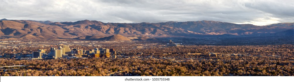 Panorama from Peavine of downtown Reno, Nevada