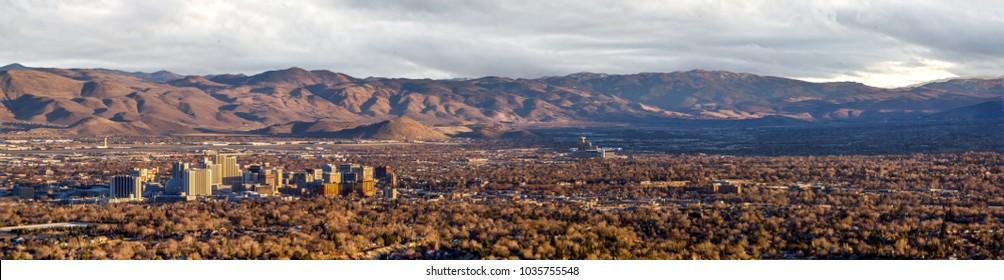 Panorama from Peavine of downtown Reno, Nevada