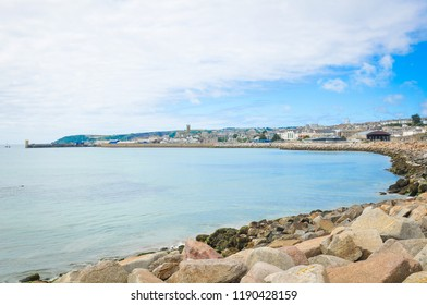 Panorama of Penzance in Cornwall, England
