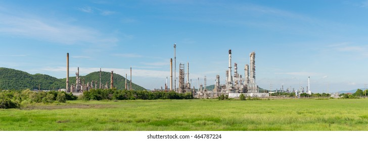 Panorama of Petrochemical industry power station in Thailand