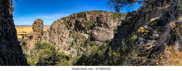 Panorama of Pharos Valley at Arapiles, Victoria, Australia