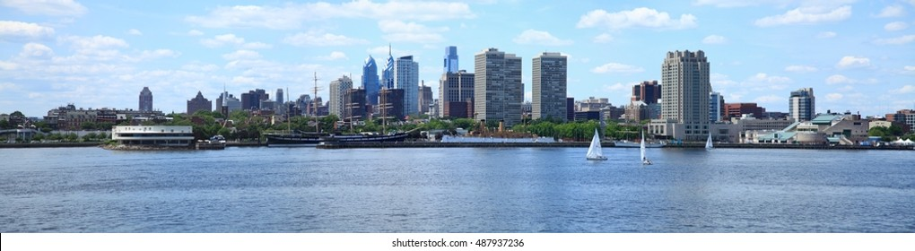 Panorama of Philadelphia Skyline