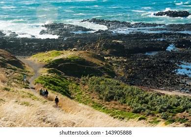 Panorama of a Phillip Island's shore in Australia