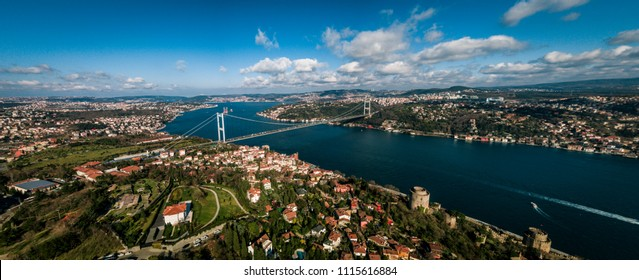 A panorama photo of Bosporus/Istanbul