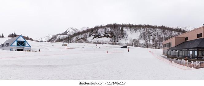 The panorama photo of Kiroro Ski Resort, the popular destination for sking in Sapporo, Hokaido, Japan.