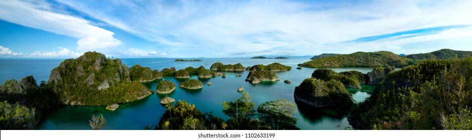 Panorama of Pianemo Island, Raja Ampat - Indonesia