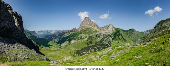 Panorama Pic d'Ossau in the French Pyrenees National Park
