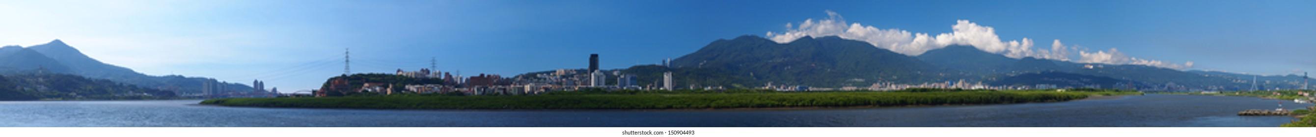 Panorama Picture of Taipei City