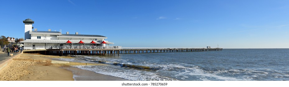 Panorama of the pier at Felixstowe Suffolk England.