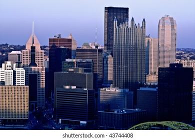 Panorama of Pittsburgh, Pennsylvania. North America, USA.