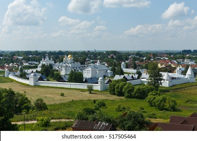 Panorama of Pokrovsky monastery in Suzdal