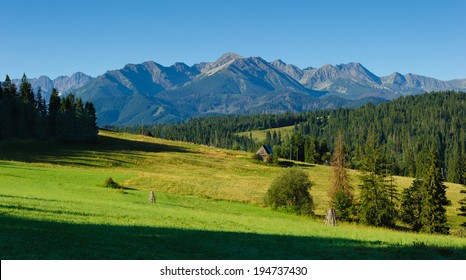 Panorama of Polish Tatra mountains