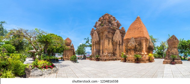 Panorama of Ponagar (Thap Ba Po Nagar) - Cham temple in Nha Trang, Vietnam in a summer day